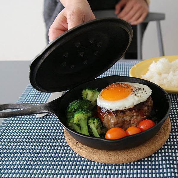 LODGE(ロッジ) スキレットカバー(蓋) 鉄製フライパン用(ガス・IH・オーブン対応)6-1/2サイズ