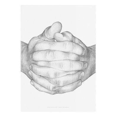 Paper Collective (ペーパーコレクティブ) ポスター 50×70cm Folded Hands 北欧 インテリア【送料無料】