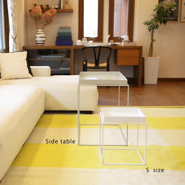 HAY (ヘイ)<br>TRAY TABLE S square<br>サイドテーブル/コーヒーテーブル<br>ブラック 北欧家具<br>【受注発注の為キャンセル/返品不可】<br>【大型送料】