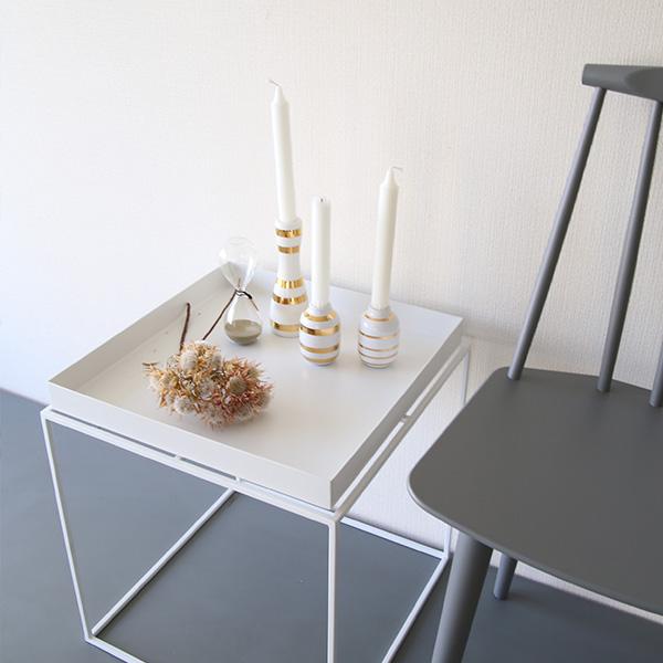 HAY (ヘイ)<br>TRAY TABLE M square<br>サイドテーブル/コーヒーテーブル<br>ホワイト 北欧家具<br>【受注発注の為キャンセル/返品不可】<br>【大型送料】