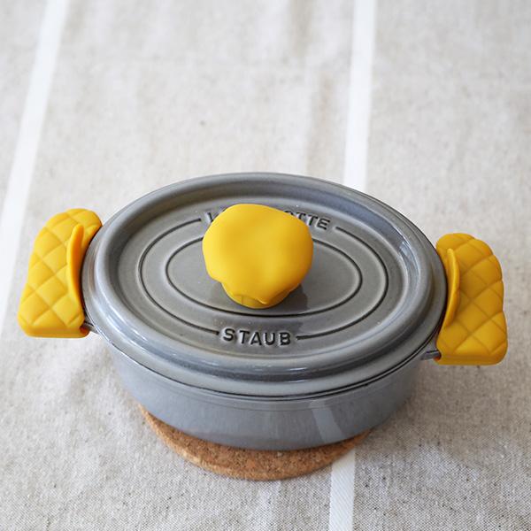APYUI(アピュイ) キッチンミトン/鍋つかみ/両手用 マスタード