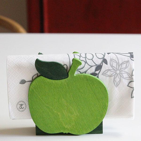 セバスチャン・デザイン(Sebastian design)デンマークのペーパーナプキンホルダー 木製 りんごアップル キッチン雑貨 北欧雑貨