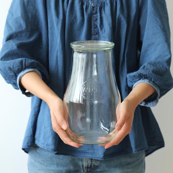 Weck (ウェック) tulip shape ガラスキャニスター we-739 (2700ml) 【フタのサイズL】 保存容器