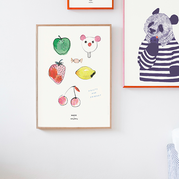 【受注発注】 MADO (マド) ポスター 50×70cm Soft Gallery Fruits & Friends【送料無料】
