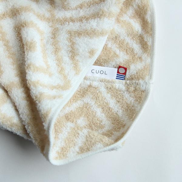 CUOL (クオル) 枕カバーではじめるスキンケア / マクラカバー 40×70cm 無地/幾何学柄 ホワイト/ベージュ/グレージュ ヘアケア/ピローケース/インテリア/今治タオル/日本製