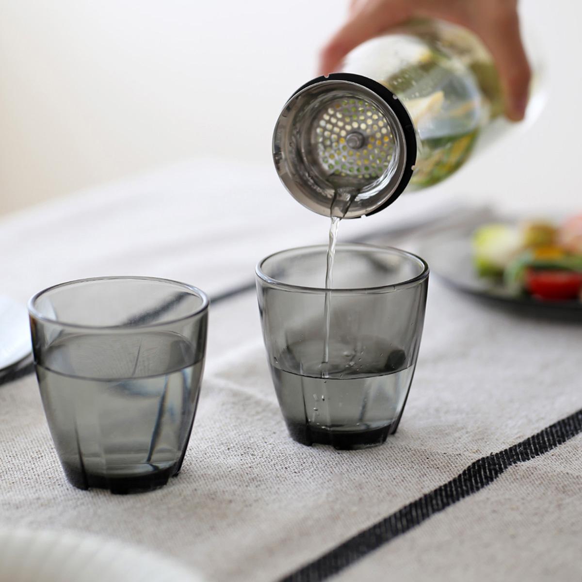 KOSTA BODA (コスタ ボダ) Bruk.(ブルック) グラス/タンブラー H8×Φ7.8cm スモーキーグレー北欧/食器/皿