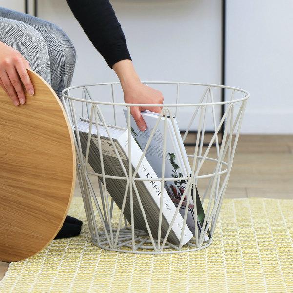 【B級品 50%OFF】ferm LIVING (ファームリビング) Wire Basket (ワイヤーバスケット) S ライトグレー 北欧/インテリア/家具/日本正規代理店品 【大型送料】
