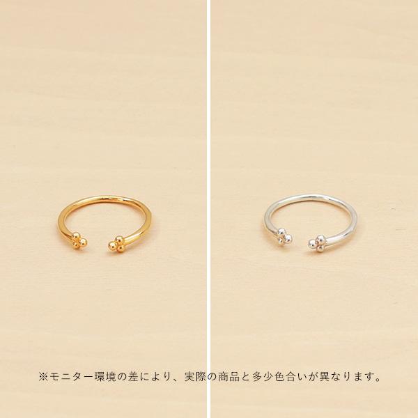 Enamel (エナメル) リング シンプルフラワー ゴールド/シルバー 【メール便】
