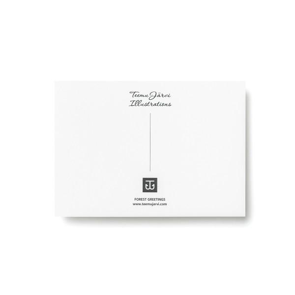 Teemu Jarvi (テーム・ヤルヴィ) ポストカード A6 BADGER (タヌキ) 北欧/インテリア/ポスター【メール便】