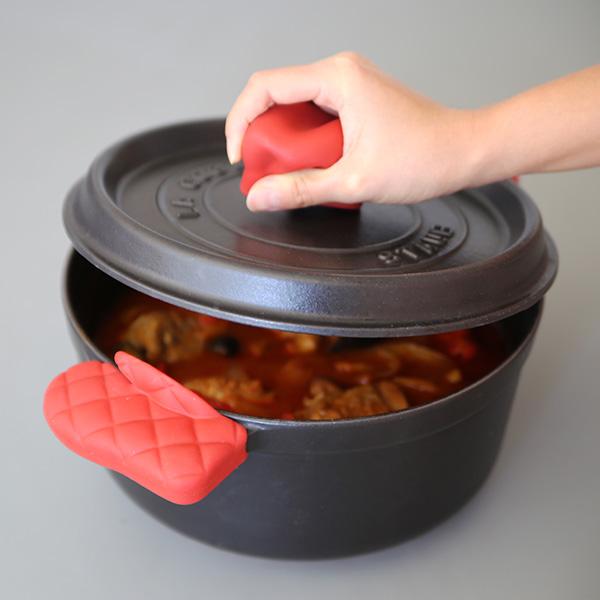 APYUI(アピュイ) キッチンミトン/鍋つかみ/両手用 レッド
