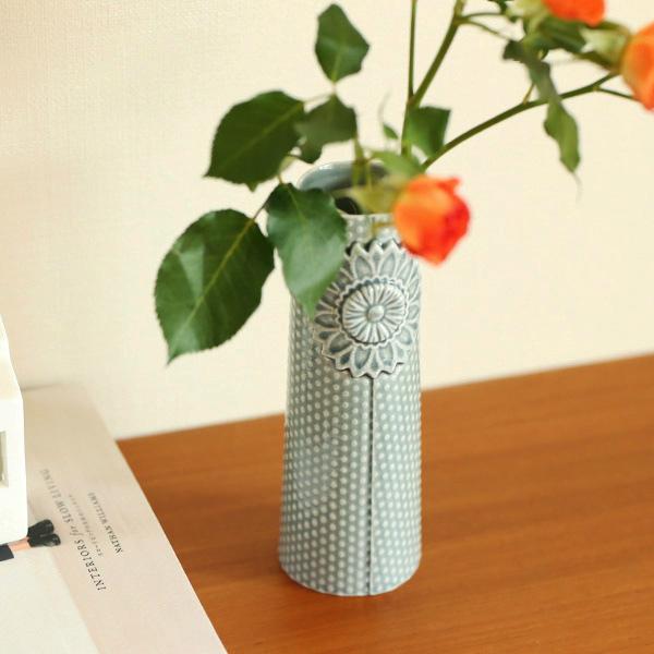 【40%OFF!】dottir (ドティエ) Pipanella (ピパネラ) フラワーベース/ドット M ダークグレー 北欧/インテリア/花瓶/日本正規代理店品