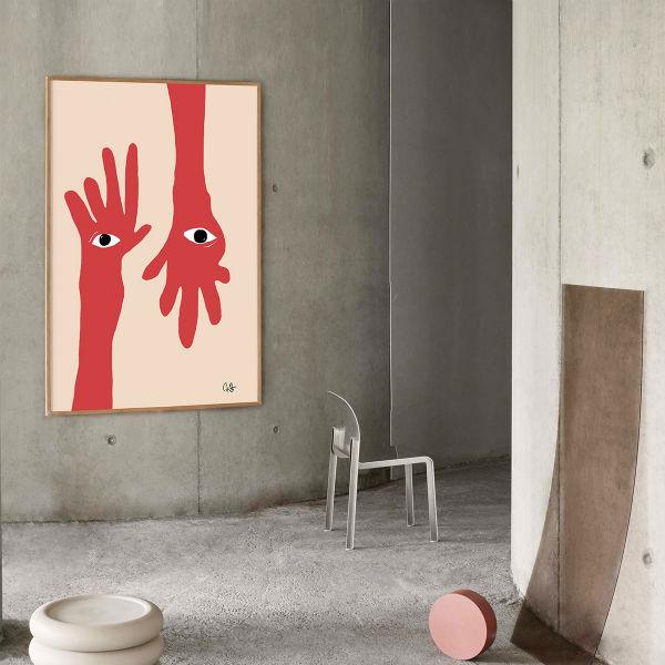 【受注発注】Paper Collective (ペーパーコレクティブ) ポスター 50×70cm Hamsa Hands