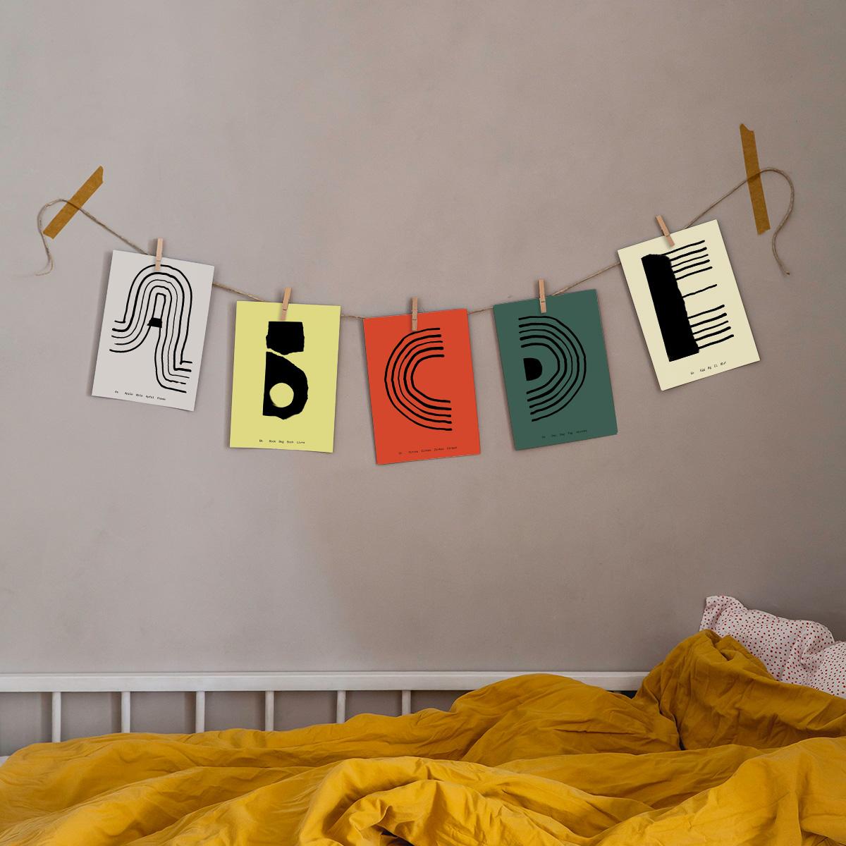 【受注発注】 MADO (マド) ポスター A5 Alphabet Spaghetti A〜R【メール便】