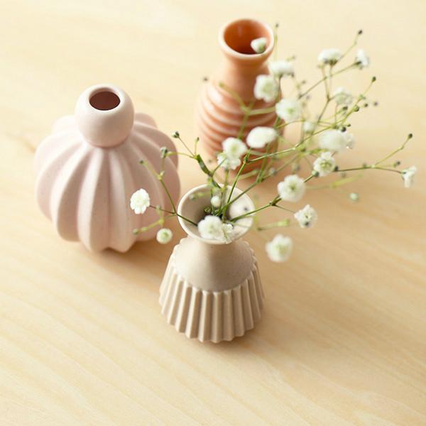 dottir (ドティエ) Samsurium (サムスリアム) ミニベルフラワーベース/3個セット ミニ ピンク/コーラル 北欧/インテリア/花瓶/日本正規代理店品