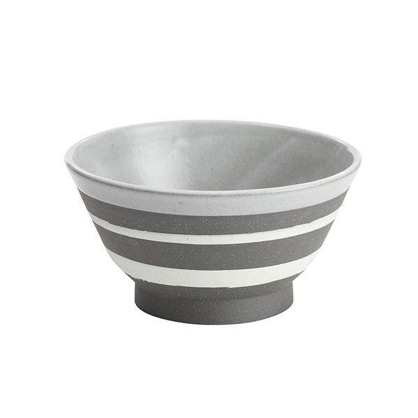 KOZ茶碗 ボーダー飯碗/お茶碗 大