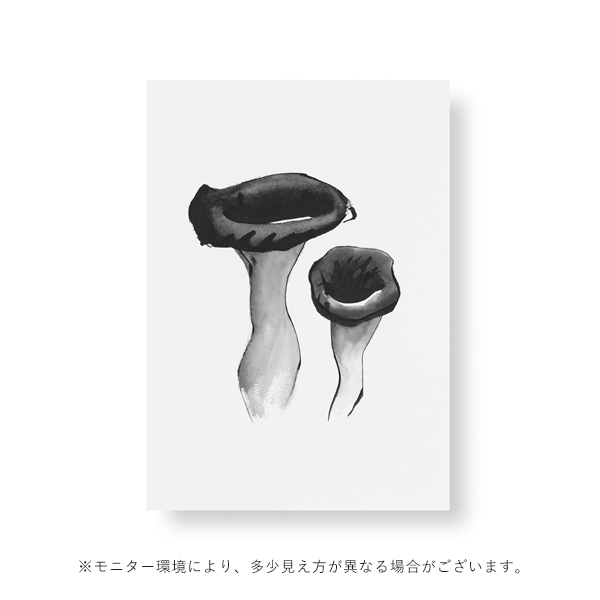 Teemu Jarvi (テーム・ヤルヴィ) ポスター A5 BLACK TRUMPET MUSHROOM(ブラックトランペットマッシュルーム)北欧/インテリア【メール便】