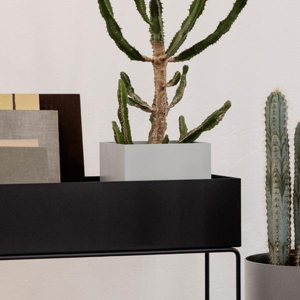 【受注発注】ferm LIVING (ファームリビング)  Plant Box Pot (プラントボックスL/Two Tier専用ポット)  ライトグレー  北欧/インテリア/家具/日本正規代理店品