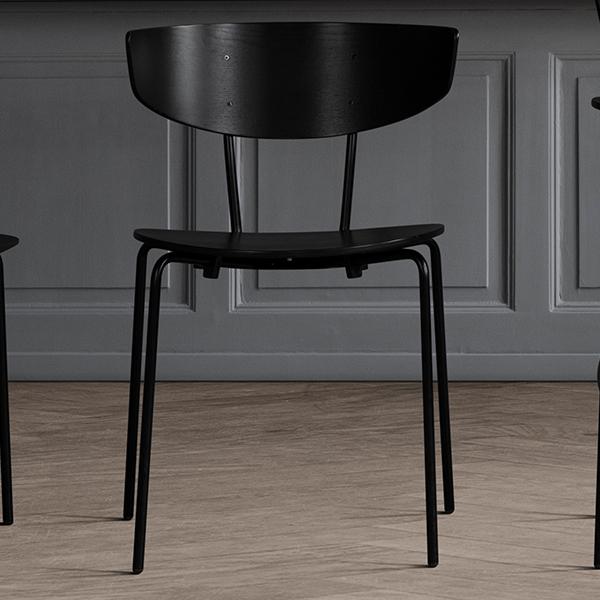 【受注発注】ferm LIVING (ファームリビング) Herman Dining Chair(ハーマンダイニングチェア) ブラック 北欧/インテリア/家具/日本正規代理店品 【大型送料】