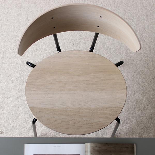 【受注発注】ferm LIVING (ファームリビング) Herman Dining Chair(ハーマンダイニングチェア) ホワイトオイルドオーク/ブラック 北欧/インテリア/家具/日本正規代理店品 【大型送料】
