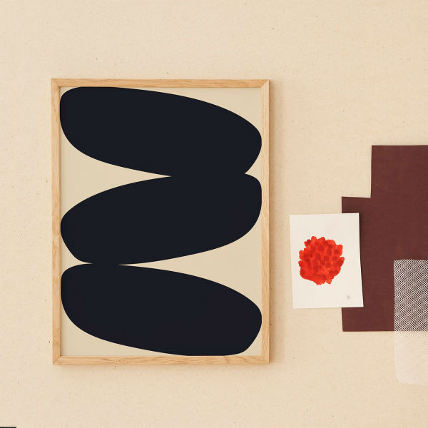 【受注発注】Paper Collective (ペーパーコレクティブ) ポスター 50×70cm Solid Shapes 01