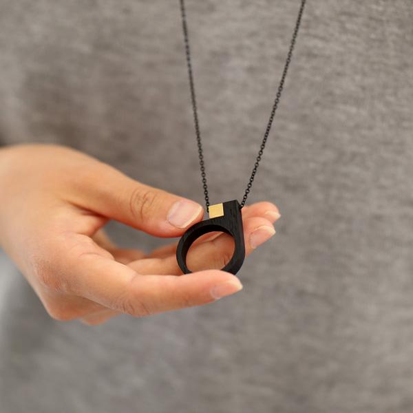 Grundled (グルンドレッド) ネックレス 75cm Kasus ブラック【メール便】