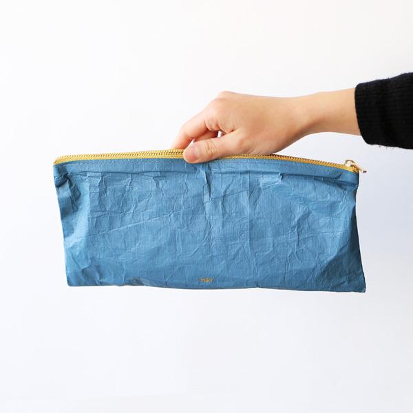 HAY (ヘイ) <br>ジップポーチ Rectangular M <br>Packing Essentials Zip ダスティーブルー【メール便】
