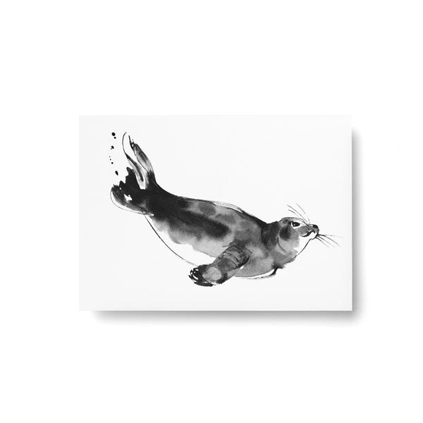 Teemu Jarvi (テーム・ヤルヴィ) ポストカード A6 SEAL (ワモン アザラシ) 北欧/インテリア/ポスター【メール便】