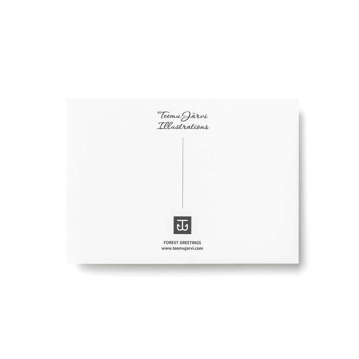 Teemu Jarvi (テーム・ヤルヴィ) ポストカード A6 GENTLE BEAR (ジェントル ベア) 北欧/インテリア/ポスター【メール便】