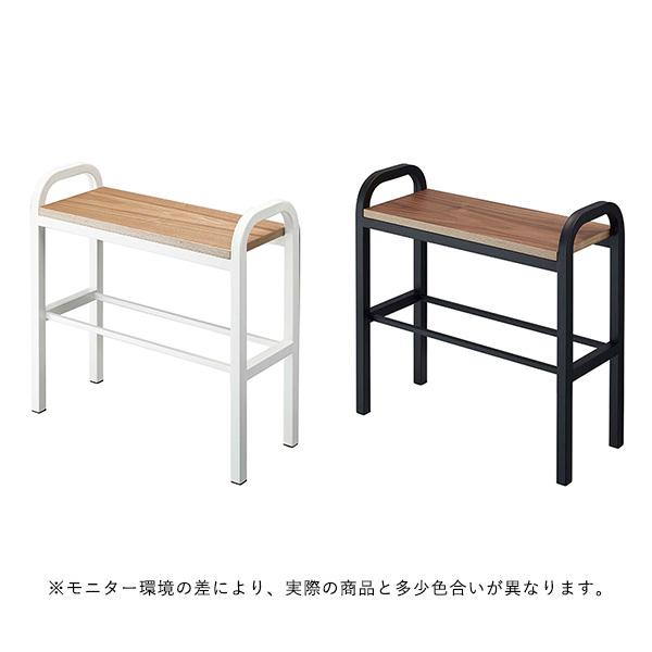 【受注発注】YAMAZAKI tower (タワー) Bench Shoes Rack (ベンチシューズラック) ホワイト/ブラック 収納/雑貨【大型送料】