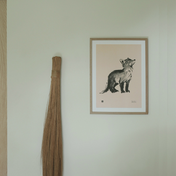 Teemu Jarvi (テーム・ヤルヴィ) ポスター 30×40cm FOX CUB(キツネ) 北欧/インテリア/アート/シンプル/壁掛け
