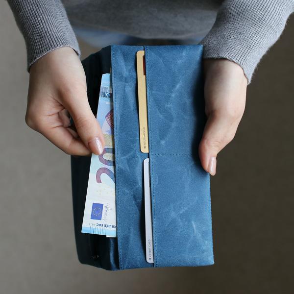 SIWA (紙和) 長財布 ブラック/ブルー/ブラウン 和紙/軽量/国産/財布 【メール便】