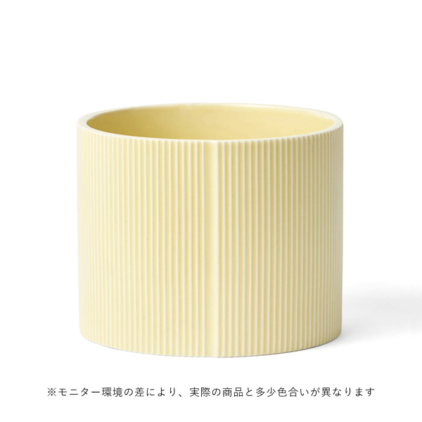 dottir (ドティエ) Pipanella(ピパネラ) フラワーポット L ドラム/イエロー 北欧/インテリア/花瓶/日本正規代理店品