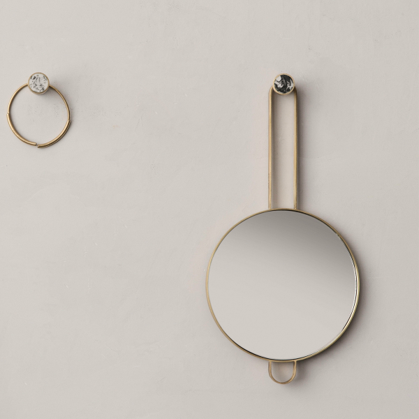 fermLIVING (ファームリビング) Hook Brass Stone S(Ø2cm) 北欧/インテリア/日本正規代理店品【受注発注】