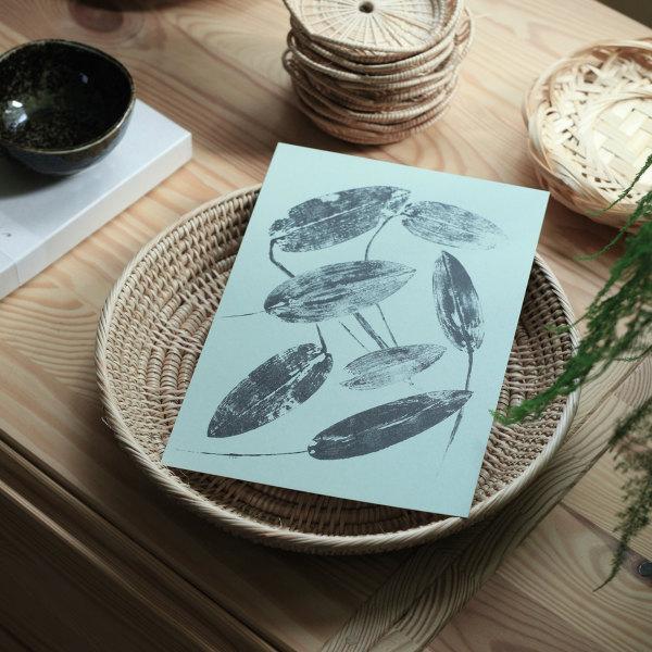 Teemu Jarvi (テーム・ヤルヴィ) ポスター A5(14.8×21cm) PONDWEED(ヒルムシロ) 北欧/インテリア/アート/シンプル/壁掛け 【メール便】