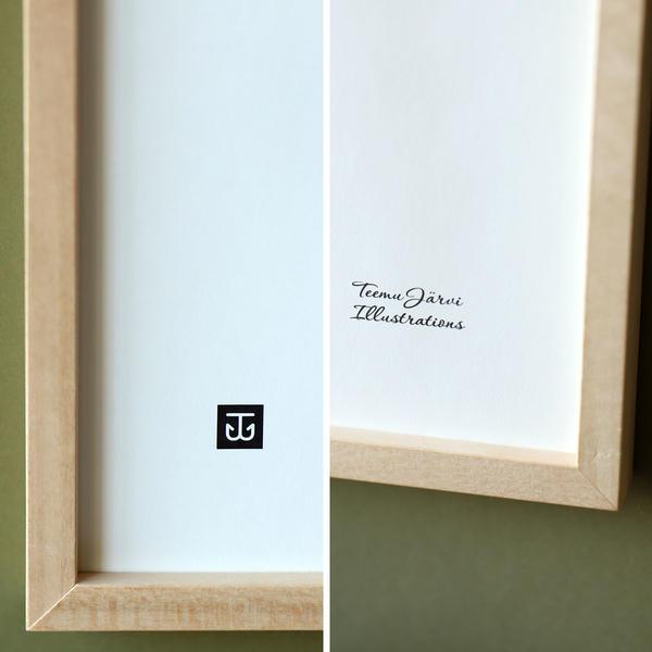 Teemu Jarvi (テーム・ヤルヴィ) ポスター 30×40cm OWL (ワシミミズク) 北欧/インテリア