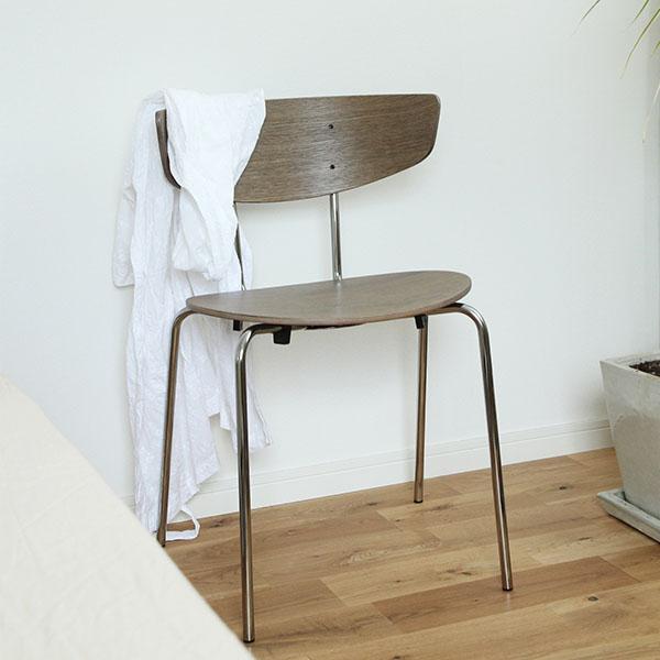 【受注発注】 ferm LIVING (ファームリビング) Herman Dining Chair(ハーマンダイニングチェア) ダークステンドオーク/クローム 北欧/インテリア/照明/日本正規代理店品 【大型送料】
