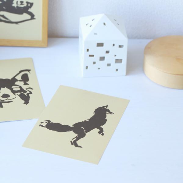 Teemu Jarvi (テーム・ヤルヴィ) ポスター A5(14.8×21cm) FOX TALES(キツネ) PLAYFUL 北欧/インテリア/アート/シンプル/壁掛け 【メール便】