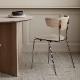【受注発注】 ferm LIVING (ファームリビング) Herman Dining Chair(ハーマンダイニングチェア) ホワイトオイルドオーク/クローム 北欧/インテリア/照明/日本正規代理店品 【大型送料】