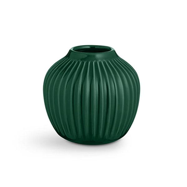 【30%OFF】Kahler (ケーラー) ハンマースホイ フラワーベース Sサイズ グリーン 日本正規代理店品