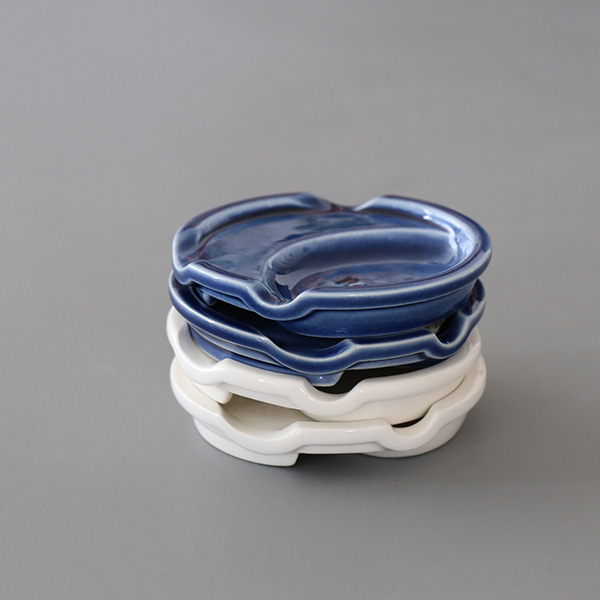 箸休め(箸&スプーン) 箸置き/薬味皿/醤油皿/小皿 ブルー