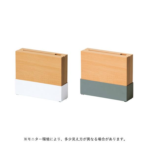 ideaco (イデアコ) Knife stand (ナイフスタンド) ホワイト/アッシュグレー キッチン収納/調理器具/ナイフ/キッチンバサミ【送料無料】