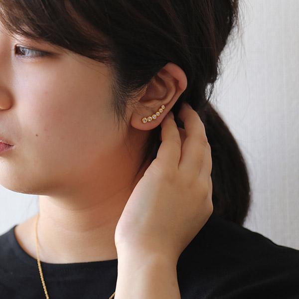 Enamel (エナメル) ピアス シックスドット ゴールド【メール便】