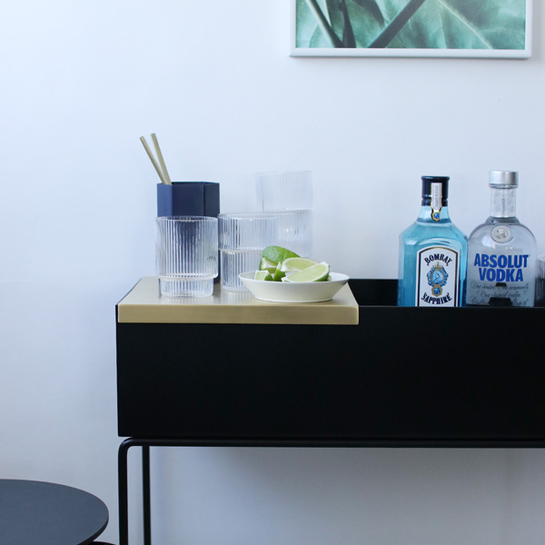 【B級品 50%OFF】ferm LIVING (ファームリビング) Tray for Plant Box (プラントボックス L / Two Tier専用トレイ) ブラス 北欧/インテリア/日本正規代理店品