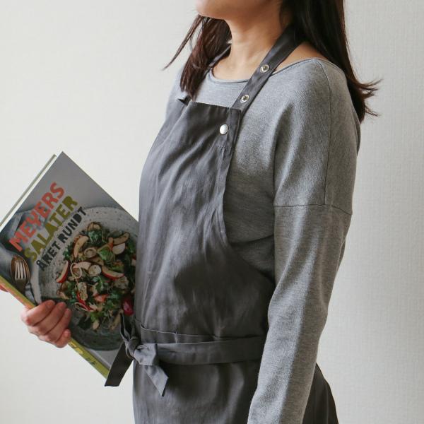 The Organic Company (オーガニックカンパニー) エプロン ダークグレー/ダークグリーン/ダークブルー 北欧/キッチン/男女兼用