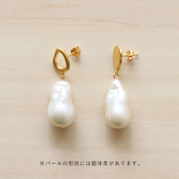Enamel (エナメル) ピアス バロックパール ゴールド【メール便】【送料無料】