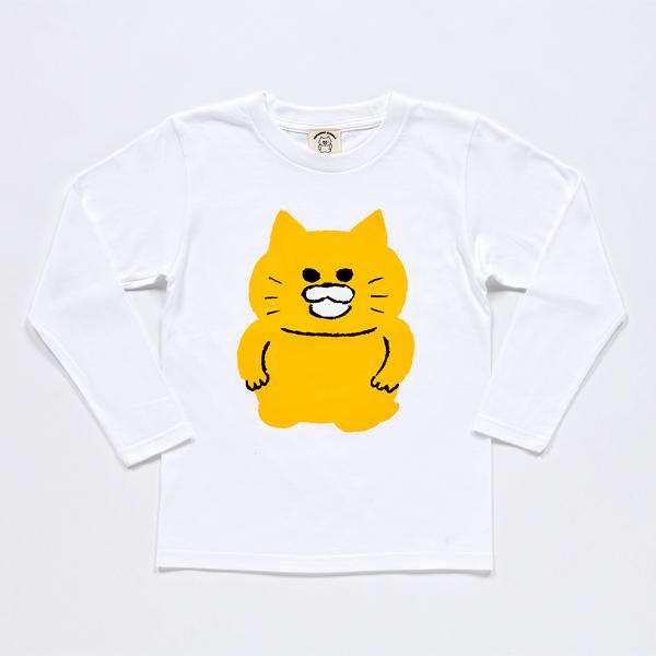 ノラネコぐんだん 長袖Tシャツ ノラネコ 白 キッズ(110cm,130cm,150cm)、ユニセックス(S、M、L、LL)