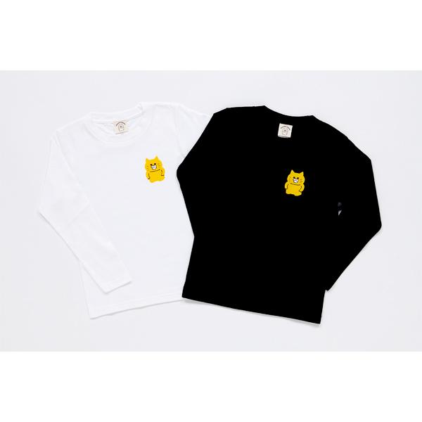 ノラネコぐんだん 長袖Tシャツ ノラネコワンポイント 白 キッズ(110cm,130cm,150cm)、ユニセックス(S、M、L、XL)