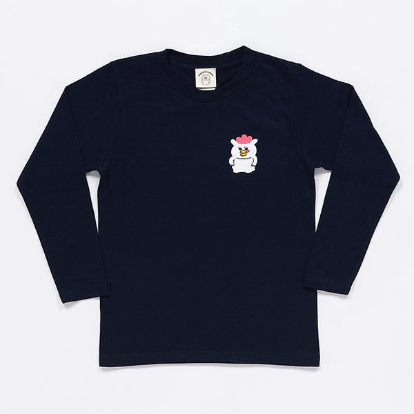 ノラネコぐんだん 長袖Tシャツ マーミーちゃんワンポイント ネイビー キッズ(110cm,130cm,150cm)、ユニセックス(S、M、L、XL)