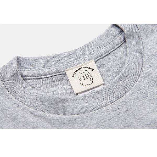 ノラネコぐんだん 長袖Tシャツ プリンアラモード グレー キッズ(110cm,130cm,150cm)、ユニセックス(S、M、L、XL)