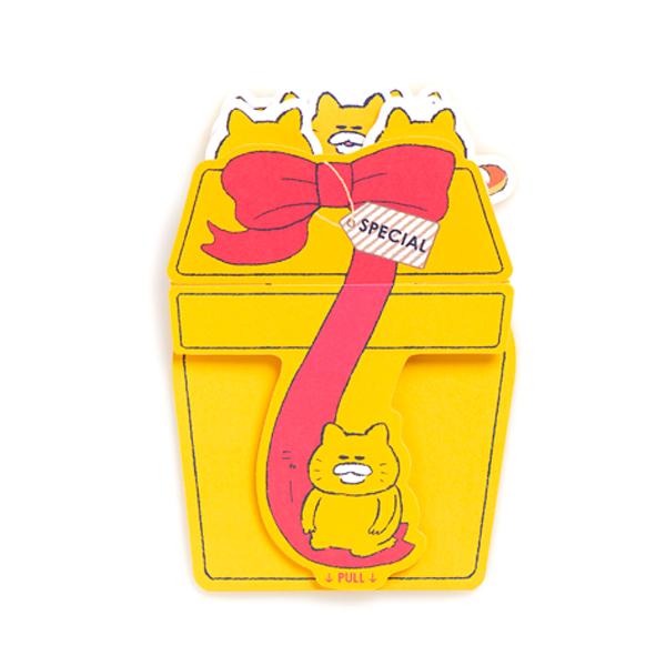 ノラネコぐんだん 飛び出すグリーティングカード ハッピーバースデー プレゼントBOX